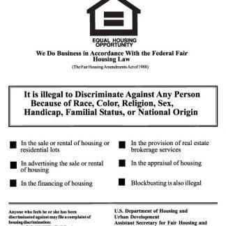 Fair-housing poster